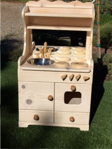 Play kitchen made for daughters nursery school auction  Brought $400