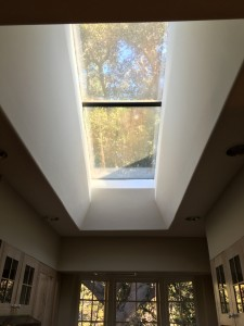 Very large skylight making kitchen bright  Love skylights